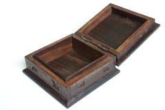Casella di legno intagliata di vecchio stile Fotografie Stock Libere da Diritti