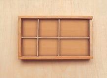 Casella di legno isolata Immagine Stock