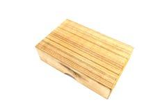 Casella di legno isolata Fotografia Stock