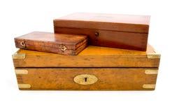 Casella di legno isolata fotografie stock