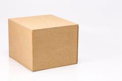 Casella di legno isolata Fotografia Stock Libera da Diritti