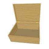 Casella di legno isolata Immagini Stock Libere da Diritti