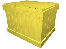Casella di legno. Isolato su bianco. Fotografie Stock