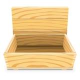 Casella di legno vuota illustrazione di stock