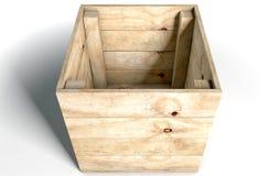 Casella di legno vuota Fotografia Stock Libera da Diritti
