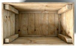 Casella di legno vuota Immagine Stock Libera da Diritti