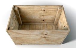 Casella di legno vuota Immagini Stock Libere da Diritti