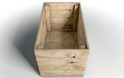 Casella di legno vuota Fotografia Stock