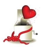 Casella di magia del biglietto di S. Valentino Immagine Stock