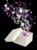 Casella di magia del biglietto di S. Valentino Fotografie Stock Libere da Diritti