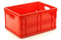 Casella di memoria di plastica rossa pieghevole Fotografia Stock