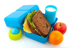 Casella di pranzo fotografie stock