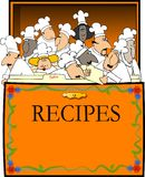Casella di ricetta Immagine Stock