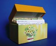 Casella di ricetta Fotografia Stock