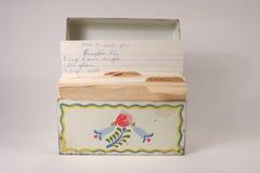 Casella di ricetta delle nonne immagine stock