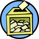 Casella di scheda elettorale Immagini Stock