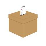 Casella di scheda elettorale Fotografia Stock