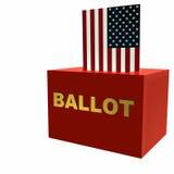 Casella di scheda elettorale americana Fotografie Stock Libere da Diritti