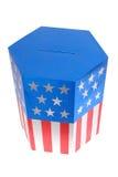 Casella di scheda elettorale americana Immagine Stock Libera da Diritti