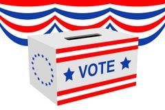 Casella di scheda elettorale di elezione Fotografia Stock