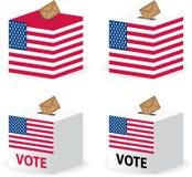 Casella di scheda elettorale di scrutinio di voto per gli Stati Uniti Fotografia Stock Libera da Diritti