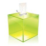 Casella di scheda elettorale verde Immagini Stock Libere da Diritti