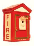 Casella di segnalatore d'incendio di incendio Immagini Stock