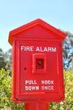Casella di segnalatore d'incendio di incendio Immagini Stock Libere da Diritti