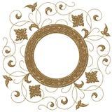 Casella di testo astratta - fiore illustrazione di stock