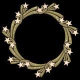 Casella di testo astratta - stella illustrazione di stock