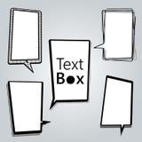 Casella di testo e discorso Immagine Stock