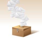 Casella di voto e voto Fotografie Stock