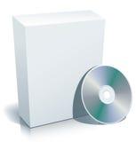 Casella e disco in bianco Fotografia Stock