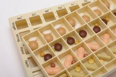 casella e pillole mediche Immagini Stock Libere da Diritti