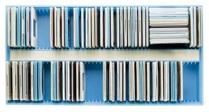 Casella e vecchie trasparenze polverose Fotografia Stock