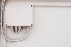 Casella elettronica bianca Fotografia Stock Libera da Diritti