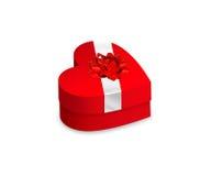 Casella a forma di chiusa del cuore fotografia stock