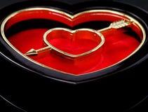 Casella a forma di del cuore Immagini Stock Libere da Diritti