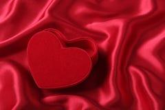 Casella a forma di del cuore Fotografia Stock Libera da Diritti