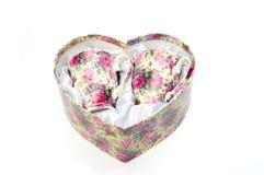 Casella a forma di del cuore Immagini Stock