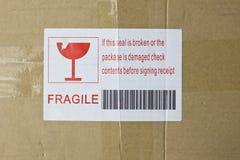 Casella fragile immagine stock libera da diritti