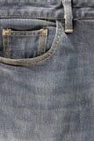 Casella fronta dei jeans Fotografia Stock Libera da Diritti
