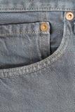 Casella fronta dei jeans Fotografia Stock