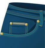Casella fronta dell'jeans Immagine Stock Libera da Diritti