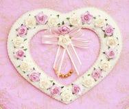 Casella Heart-shaped Immagine Stock