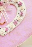 Casella Heart-shaped Fotografia Stock Libera da Diritti