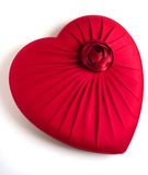 Casella heart-shaped rossa immagini stock