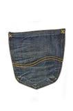 Casella - jeans Immagini Stock