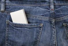 Casella nella casella dei jeans immagini stock libere da diritti