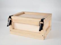 Casella non dipinta di legno Fotografie Stock